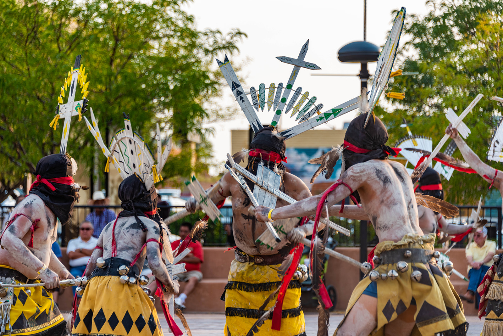 Apache Crown Dancers - Gallup, New Mexico - Photo by Boone Clemmons