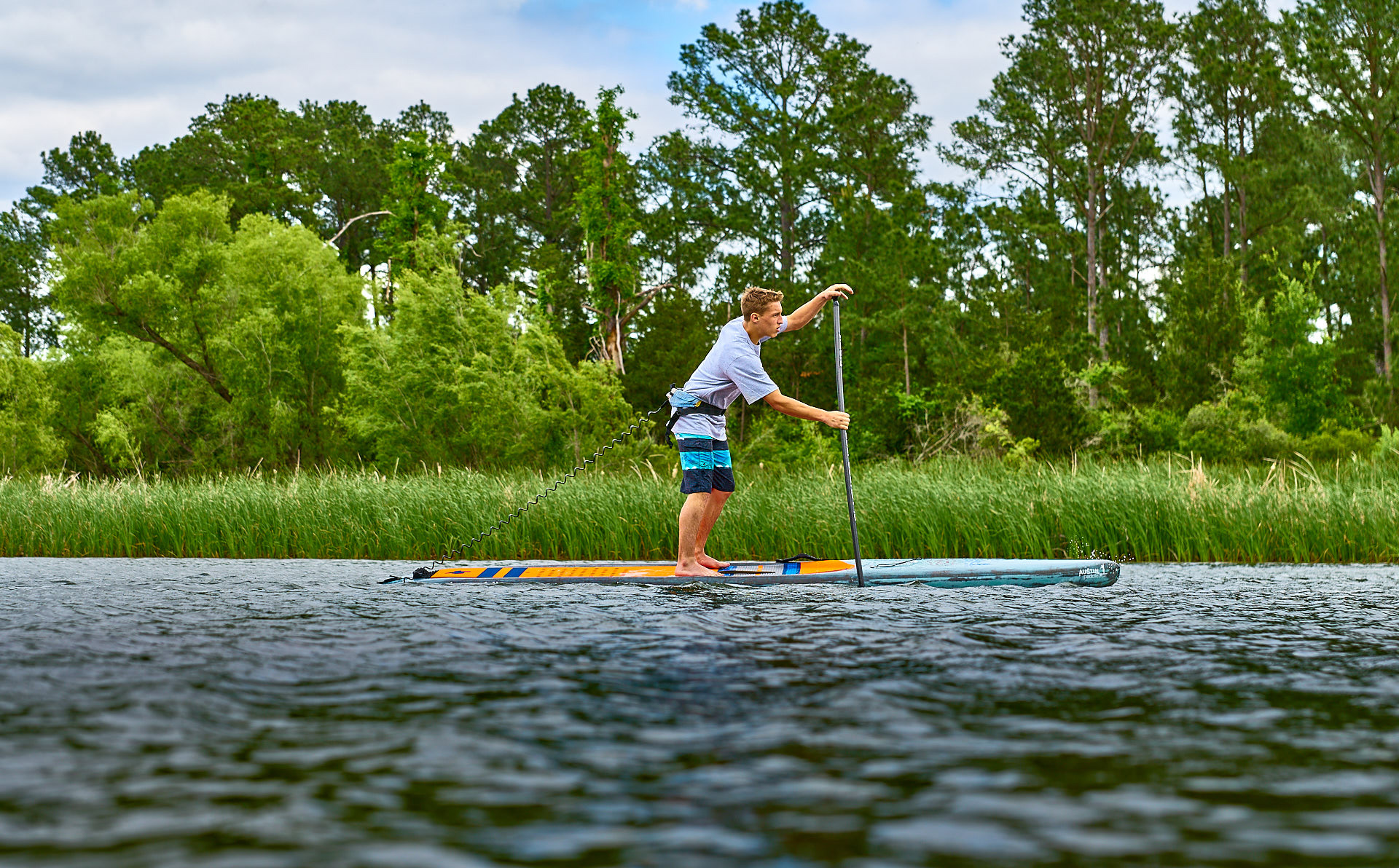 Standup paddle boarding Lake Bastrop